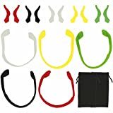 Anti-Slip Eyeglass Strap Holder, TIMGOU 5 Pack Sports Silicone Elastic Glasses Cord and 5 Pair Eyewear Retainers Ear Grip Hook for Kids Adult with 2 Sunglasses Carry Case