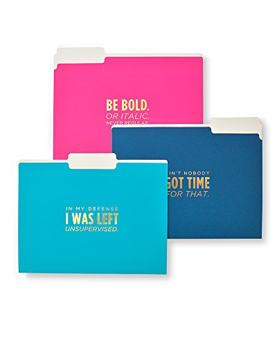 Clever Quotes Soft Touch File Folders