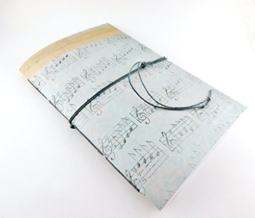 Music Notebook - Hand Stitched Journal with Choice of Interior Pages