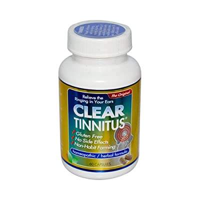 Clear Products Clear Tinnitus - 60 Capsules - Gluten Free -