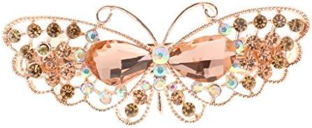 sharprepublic クリスタル ヘアクリップ ヘアピン バタフライ 蝶の形 レディース ファッション小物 髪留め 髪飾り