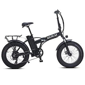 410gHe25dsL. SS300 GUNAI Pieghevole Bici Elettrica,20 Pollice Motore 500W Batteria al Litio 48V15AH,Freno a Doppio Disco Bicicletta a…
