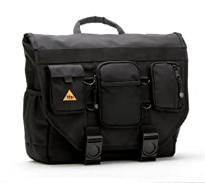 BBP Hamptons Hybrid Messenger/Backpack Laptop Bag Obsidian Black XL