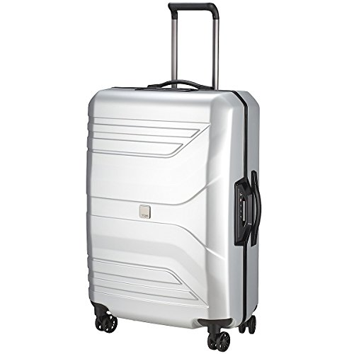 Titan Prior' Secure Frame Large 30'' Spinner Luggage, Silver by TITAN
