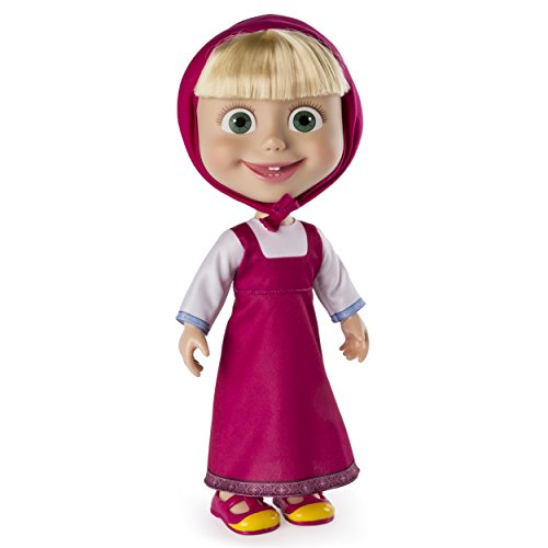 "Masha and the Bear - 12"" Giggle and Play Masha - Interactive Doll"