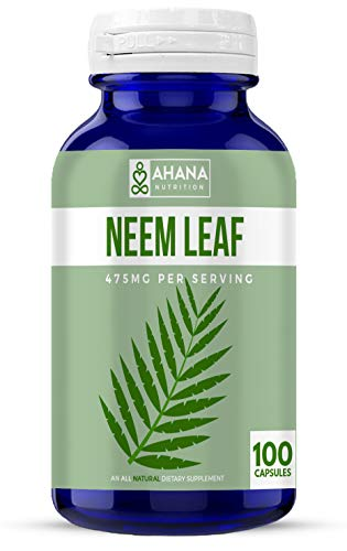 (Ahana Nutrition Neem - Neem Leaf Capsules to Support Healthy Skin and Immune System (475mg - 100 Capsules))