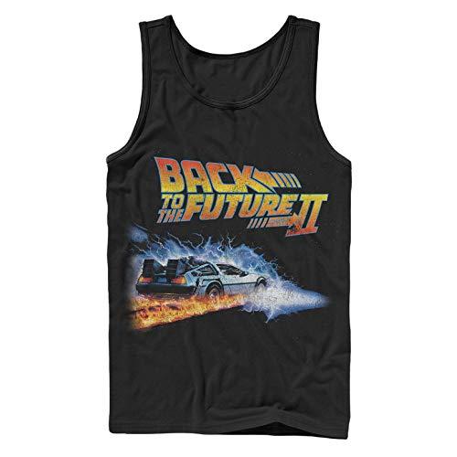 Fifth Sun Back to The Future Men's Part 2 Electric Delorean Black Tank Top ()