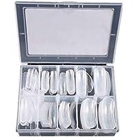False Nails - Sistema Dual de extensión de la Forma Consejos de uñas Falsas, Nail Art Tips UV Gel DIY 12 tamaños con líneas, 120pcs