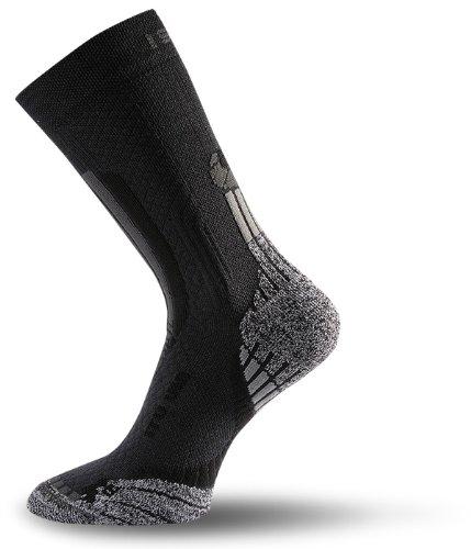 Lasting UIT Trekking Senderismo calcetín negro ligero, color , tamaño S (34-37)