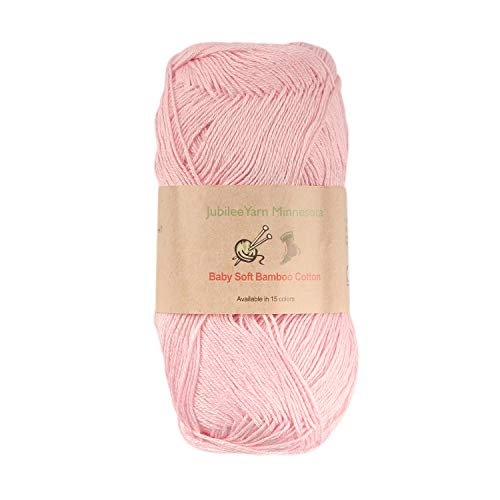 Baby Soft Bamboo Cotton Yarn - JubileeYarn - Primrose Pink - 4 Skeins