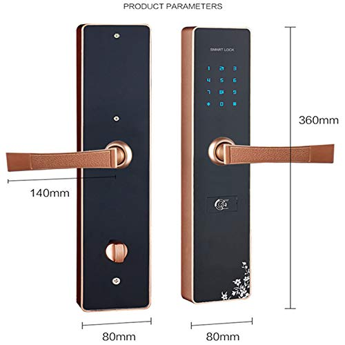 BLWX - Smart Door Lock - Zinc Alloy - B&B Password Lock Apartment Lock Apartment Password Lock Apartment Smart Lock Rental Room Door Lock Hotel Door Lock Card Lock - Size: 36x8cm Door Lock by BLWX-home renovation. Door lock (Image #2)