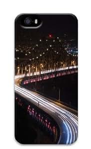 Apple iPhone 5S Case,iPhone 5S Cases - Bridge night lights long Exposure PC Custom iPhone 5S Case Cover for iPhone...