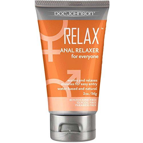Doc Johnson Relax Anal Relaxer, Black, 2 fl oz. tube