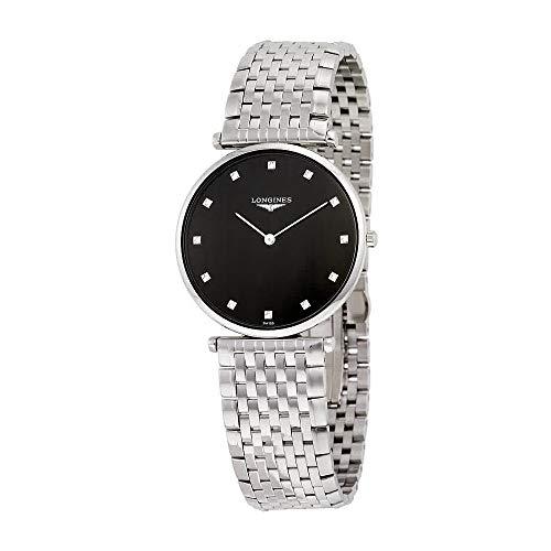 - Longines La Grande Classique Black Dial Stainless Steel Mens Watch L47554586
