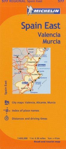 Michelin Spain: East, Valencia Murcia Map 577 (Maps/Regional (Michelin))
