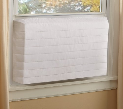 Indoor Quilted Window Air Conditioner Cover - Maintains Heat and Keeps Cold Air Out While Eliminating Dust Buildup, Medium