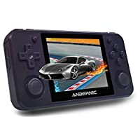 MJKJ RG350P Handheld Game Console , 3.5 Inch IPS Screen Retro Console with 32G TF Card 2500 Classic Games OpenDingux Tony System HDMI Output Portable Video Game Console - Black