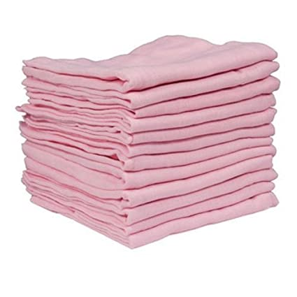 3 X SUPREME QUALITY BABY MUSLIN SQUARES 72X72CM 100%COTTON, SOFT AND COMFORTABLE, 3-Piece Pink Dudu N Girlie Limited B005UQQ59O