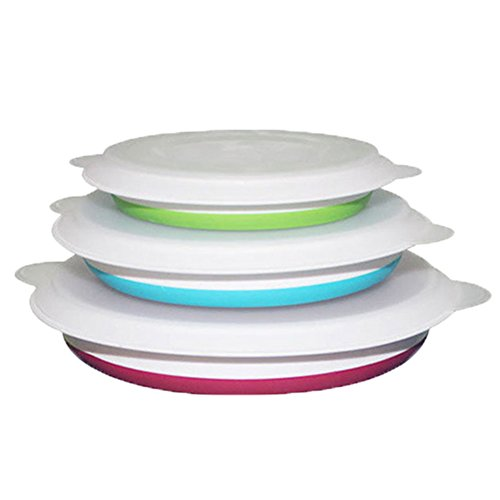 Meta-U- Collapsible Bowl- Foldable Food Container- BPA Free- Compact and Space Saving- Portable for Camping | Motor Homes | RV- Set of 3-1 Set