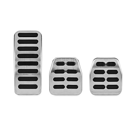 Kinglooyuan LOOYUAN Sport Metal Pedals Pads Set for 1998-2004 VW Golf Jetta MK4 Bora Polo ()