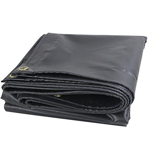 ミネラルオーストラリアブルジョンGUOWEI-pengbu ターポリン キャンバス リノリウム 布 シェード 日焼け止め 防水 老化防止 折りたたみ可能 屋外 個人的なカスタマイズ (色 : Black, サイズ さいず : 3.8x5.8m)