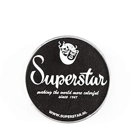 Superstar Face Paint - Line Black 163, Hypoallergenic, Gluten Free & Cruelty Free - Child Friendly, Great for Fairs, Carnivals, Party & Halloween Painting (16 gm)]()