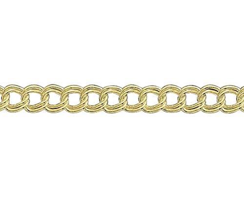 9ct or jaune Double Gourmette 19,1cm/Bracelet 19cm