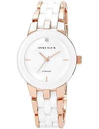 Women's AK/1610WTRG Diamond Dial Rose Gold-Tone and White Ceramic Bracelet Watch