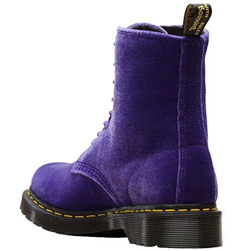 Anfibio In Martens Dusty Pascal Velluto Dr Rosso Violet 5Ttq6