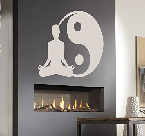 Yoga Meditation He and She Man and Woman Kids Room Children Stylish Wall Art Sticker Decal G7717