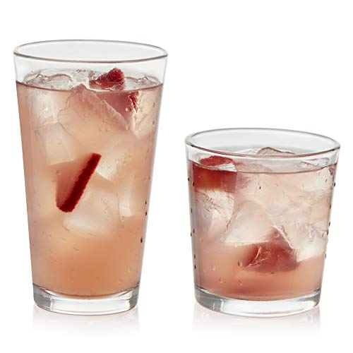 Libbey Flare 16-Piece Tumbler and Rocks Glass Set from Libbey