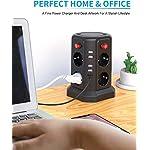 Multipresa-VerticaleSameriver-Multipresa-Ciabatta-8-Prese5M-di-cavo-prolungatoCon-5-Slot-USB-2500-W10-A-Surge-ProtezionePer-Casa-e-Ufficio