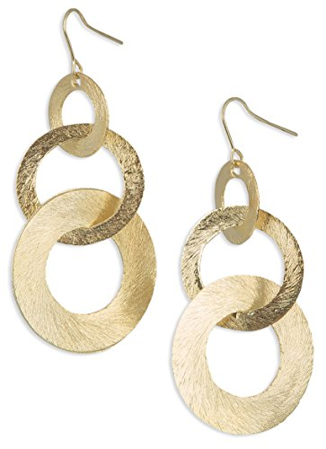 3 Hoop Statement Circle Scratched Light Weight Earrings | SPUNKYsoul Collection …