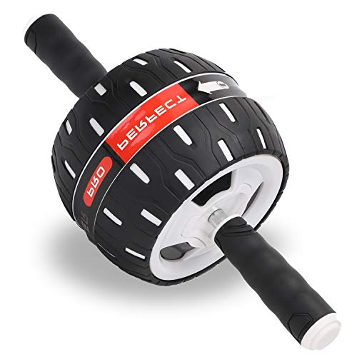 Ab Roller Wheel, Core Exercise Stomach Abdominal Power Trainer Spring Back Rolling Abs Excersize Gym Fitness Rollers…