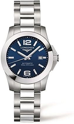 Longines Reloj Automático para Mujeres con Esfera analógica de Color Negro Acero Inoxidable L32764996