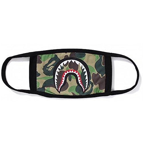 1 Pack Camping First Aid Kits Bape Black Black Shark Face Mask]()