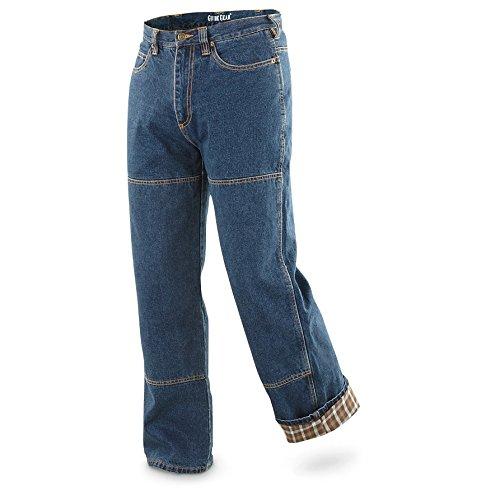 UPC 885344234768, Guide Gear Men's Flannel-Lined Denim Stone Wash Jeans, Stonewash, W44 L30