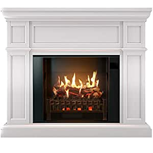 magikflame electric fireplace and mantel artemis white electric fireplaces with. Black Bedroom Furniture Sets. Home Design Ideas