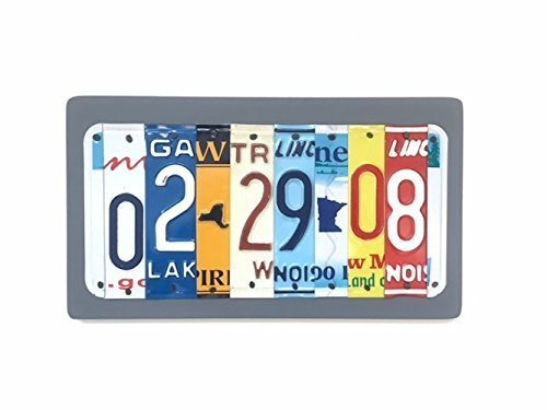 10th Anniversary Aluminum and Tin License Plate Sign Gift Idea for Husband -