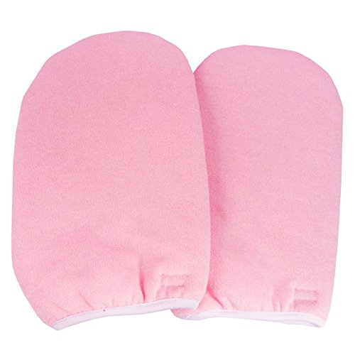Beauties Factory Paraffin Wax Protection Hand Gloves Soak Off UV Gel Nail Pink Color #391P