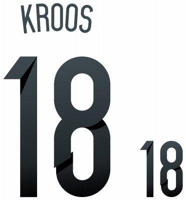 flock - Adhesivos para la camiseta de la selección nacional de fútbol de Alemania (número 18 y nombre del jugador Kroos) Talla:Erwachsene: Amazon.es: ...