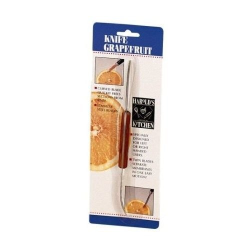 Harold Import Squirt Free Grapefruit Knife Serrated Double & Curved Blades