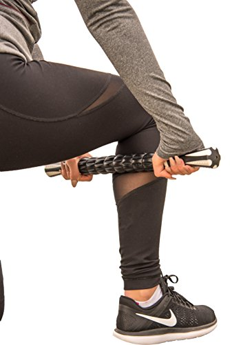Best Rated (5 Stars) Premium Muscle Roller Massage Stick (18') - The Perfect Tool for Sore and Tight Muscles, Relieving Muscle Pain/Soreness, Exercise and Sports Performance, and Increased Flexibility