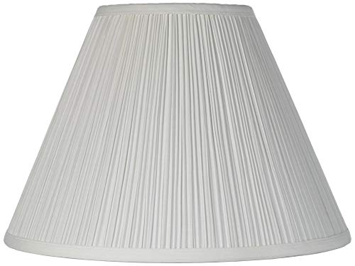 Vintage Empire Lamp Shade with Harp Pleated Cone White Fabric 6.5x15x11 (Spider) - Brentwood (Lamp Shades Amazon)