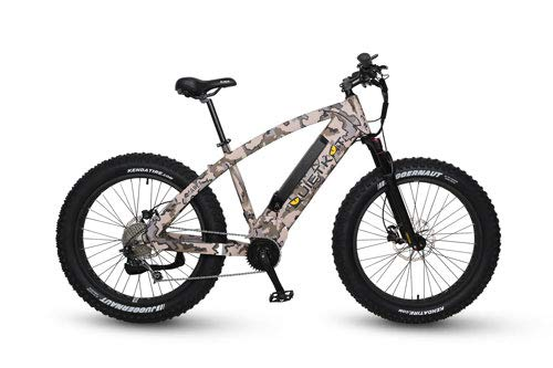 (QuietKat 2019 Apex 1000W Electric Bike for Backcountry, Hunting and Fishing - Bafang Mid Drive Motor, 9-Speed Gear, Hydraulic Disc Brake - Camo, 19