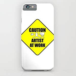 Society6 - Artist At Work Sign iPhone 6 Case by Dedmanshootn