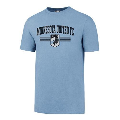 MLS Minnesota United Men's OTS Rival Distressed Tee, Carolina, Medium (Classic United T-shirt)