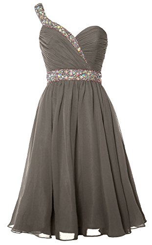 Party Gown Gorgeous Shoulder Short Formal MACloth Prom Homecoming Dress Pewter One 6HqcPw4