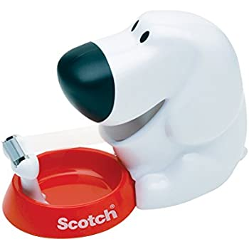 Scotch Dog Tape Dispenser with Scotch Magic Tape, 3/4 x 350 Inches, 1 Roll, 1 Dispenser (C31-DOG)