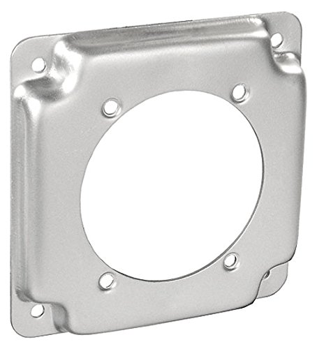 4 Inch Square 1/2 Inch Raised 30-50 Amp Receptacle 2.441 Inch Diameter Industrial Surface Cover-10 per case